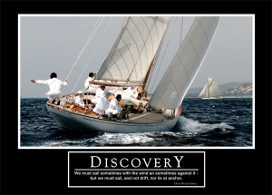 "Barney Stinson motivational poster ""Discovery"""