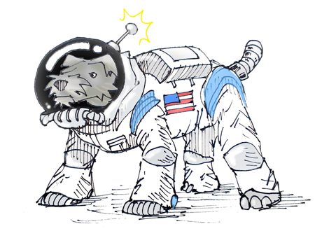 Barney Stinson Blog spacedog illustration by Spencer Smith